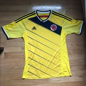 Adidas Soccer Colombia Home Jersey. Adult size